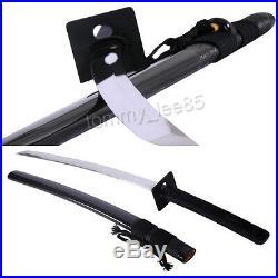 1060 High Carbon Steel Katana Sharp Blade Samurai Sword Full Tang Iron Tsuba