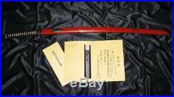 15th C. NBTHK KOTO CUTTING TEST KATANA & HIGO MOUNT Japanese Samurai Sword Tsuba