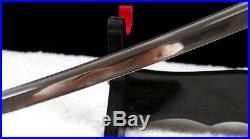 9260 spring steel hand forged japanese samurai katana sword full tang iron tsuba