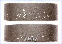 Antique Japanese Heavy Set Handachi Fuchi Kashira Iron Higo School Sword Fitting
