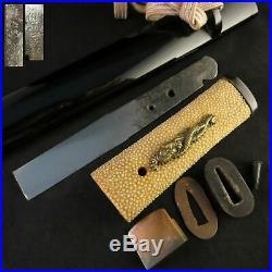 Antique Japanese KOSHIRAE Tanto Zanketsu Tsuka Saya Katana Sword Edo era Signed
