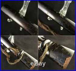 Antique Japanese KOSHIRAE Wakizashi Tsuka Tsuba Saya Katana Sword Edo era Signed