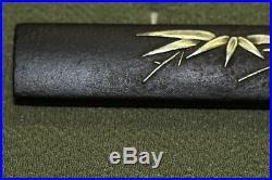 Antique Japanese Kozuka bamboo grass