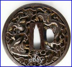 Antique Japanese Nanban Karakusa Souryu Tuba withPaulownia box certificate Japan
