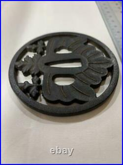 Antique Japanese Sword Tsuba Iron Katana Nobushige Limited Japan LTE263