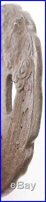 Antique Japanese Tsuba Iron Raijin Lightning Thunder God Rain Katana Sword Guard