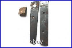 Antique japanese 2 broken blade set for tanto wakizashi sword katana tsuba armor