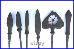 Antique japanese 6 yajiri set sword armor