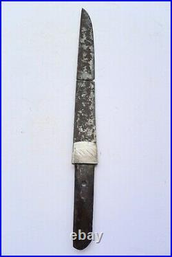 Antique japanese broken tanto with habaki tsuba armor katana