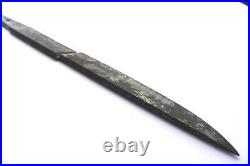 Antique japanese broken tanto with silver plated habaki sword katana tsuba armor