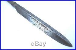 Antique japanese sign Shimosaka yari (spear) koshirae katana sword tsuba armor