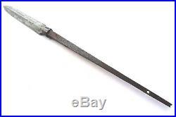 Antique japanese yari (spear) sign (kunimichi) katana tsuba armor