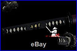 Battle Ready Japanese Samurai Katana Iron Tsuba Sword Clay Tempered Blade New