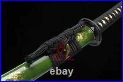Battle ready Hand forged folded steel blade japan katana iron tsuba sharp sword