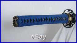 Clay Tempered Katana Honsanmai 1095 Steel+Folded Steel Iron Tsuba Sharp Handmade