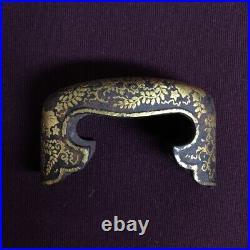 D1107 Japanese Edo Samurai Paulownia Gold inlay KOJIRI tachi katana koshirae