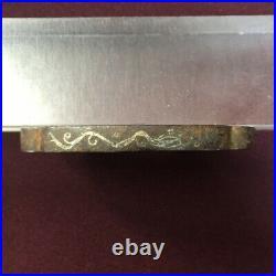 D1130 Japanese Edo Samurai HAMIDASHI TSUBA 2pcs katana koshirae wakizashi silver