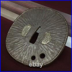 D1233 Japanese Edo Samurai Kacchushi Armor smith IRON TSUBA katana koshirae