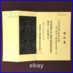 D1369 Japanese Edo Samurai withNBTHK IRON SUKASHI ECHIZEN TSUBA katana koshirae