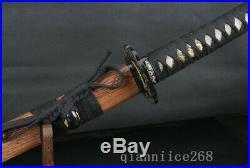 Damascus Folded Steel Japanese Sword Katana Rose Wood Saya Iron Tsuba