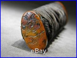 Dragon & Clouds Fitting TSUKA 18-19thC Japanese Original Antique Edo Koshirae