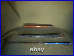 Edo Period Chipped Tip Spear, with a scabbard and handle Japanese Samurai Sword