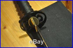 Functional Shobu Zukuri Hishi-Gami Iron Mokko Tsuba Shinken Japanese Sword