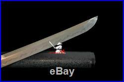 High Quality Clay Tempered L6 Steel Blade Japanese Samurai Katana Iron Bat Tsuba