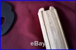 High Quality Higo Iron Mokko Tsuba fuchi kashira kenkatabami Menuki Wood Tsuka