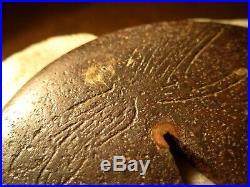 IRON DRAGONFLY ANTIQUE JAPANESE TSUBA SWORD SAMURAI EDO DESIGN 300 years old