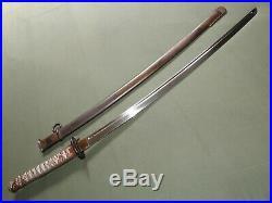 Imperial Japanese Army WW2 IRON TSUBA TYPE 95 NCO SWORD + SCABBARD EXC Vtg Saber