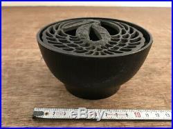 Iron Incense Burner Kensui Tea Utensils Tsuba of Japanese Sword Katana Design