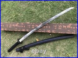 Iron Tsuba Japanese Samurai Sword Katana Damascus Steel Sharp Asia Saber Knives