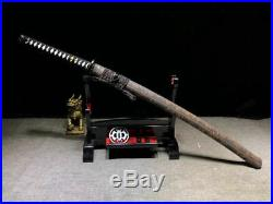Iron Tsuba Japanese Samurai Sword Katana T10Steel Very Sharp Battle Knife Saber