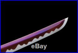 Iron Tsuba Japanese Wakizashi Tang Knife 1095Carbon Steel Samurai Sword Katana