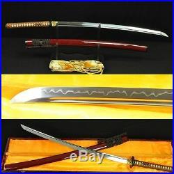 JAPANESE SAMURAI SWORD KATANA FULL TANG Blade IRON TSUBA VERY SHARP CAN CUT TREE