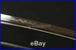 JP Wakizashi Sword Clay Tempered Damascus Folded Steel Iron Tsuba Battle Ready
