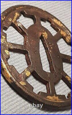 Japanese Iron Cartwheel Tsuba