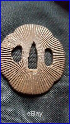 Japanese Iron Tsuba- Edo Period
