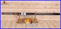 Japanese Ninja Sword Katana T10 Clay Tempered Iron Tsuba UNOKUBI-ZUKURI Blade