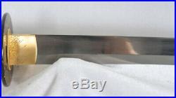 Japanese Samurai Sword Katana Honsanmai Full Tang Handmade Iron Tsuba Sharp
