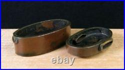 Japanese Sword Katana FUTIGASHIRA Tsuba Samurai Japan Antique Edo Period Copper