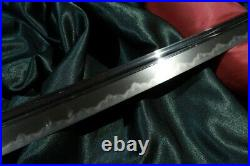 KOTO KATANA LATE MUROMACHI KANEMOTO ca. 1550's + BOHI Japanese Sword Tsuba