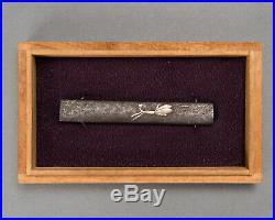 KOZUKA BUKURO Antique Japanese handle of knife kogatana koshirae tsuka tsuba