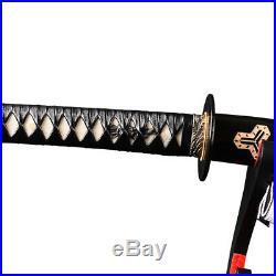 Kill Bill Samurai Katana Japanese Sword Manganese steel Iron Tsuba Hamon Sharp