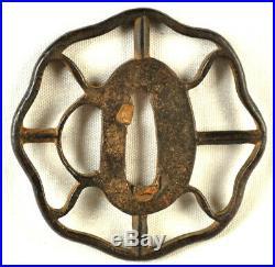 Old Japanese Iron Sword Tsuba