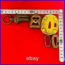 Original Army Gunto Parts Tsuba Haikan Ww2 Japanese Officer Sword Katana