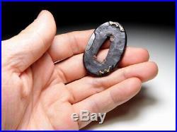 RARE Bat TSUBA for TANTO 18/19C Japanese Edo Original Antique koshirae
