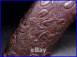Rare SAYAJIRI (KOJIRI) 18-19th C Japanese Edo Antique fitting Dragon D965