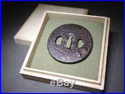 SIGNED Mouses TSUBA 18-19thC Japanese Edo Samurai Koshirae Antique